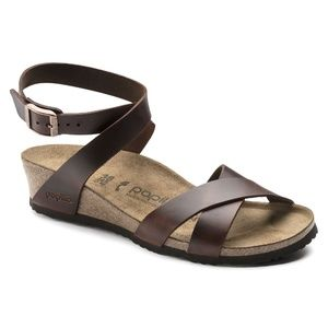 Birkenstock Papillio Cognac Lola Leather Womens